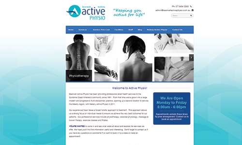 Website Design – Beerwah Active Physio